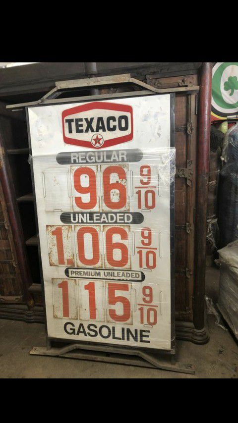 I paid cash for old signs or gas pumps