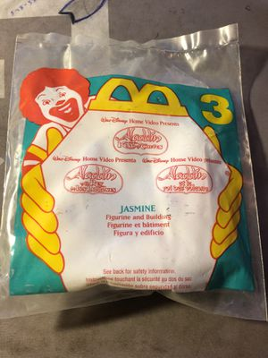 1996 McDonalds Disney ALADDIN AND THE KING OF THIEVES - JASMINE Toy #3 NEW RARE for Sale in Fresno, CA