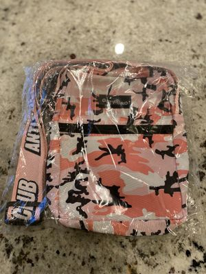 Photo Anti social social club side bag brand new pink camo ASSC bag same size as supreme side bags