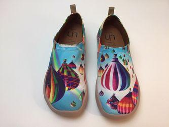 UN Art shoes hot air balloons women's 9 Thumbnail