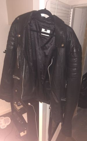 Authentic leather TOPMAN biker jacket for Sale in Washington, DC