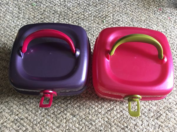 507c7ab295 Hair Accessory Storage Containers - Purple   Pink  4 each - pickup in Aiea  - across Toys r Us (Beauty   Health) in Aiea