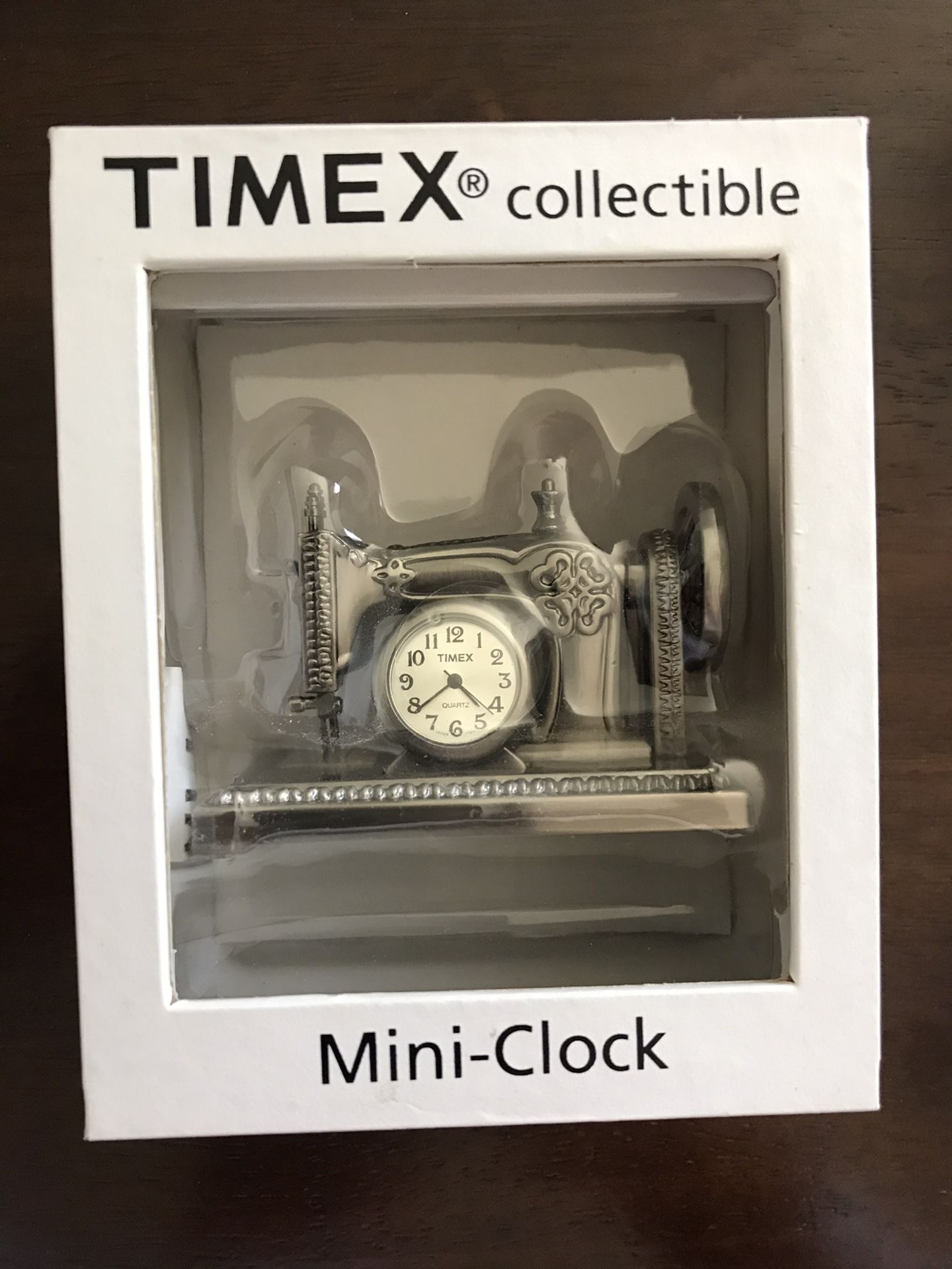 Timex Collectible Mini Clock Sewing Machine