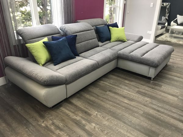 Sleeper Sofa Bed Corner Couch Sectional Donatella For Sale