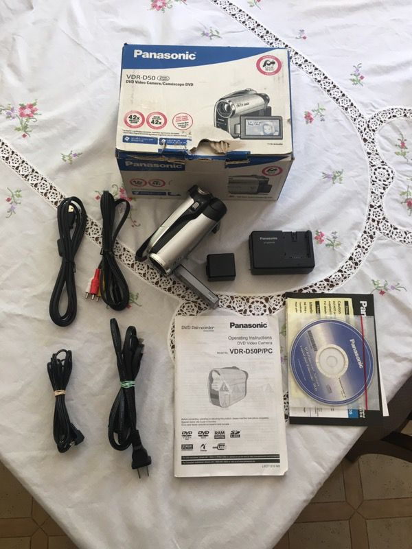 PANASONIC VDR-D50 DVD Video Camera w/ 42x Optical Zoom for Sale in Sylmar,  CA - OfferUp