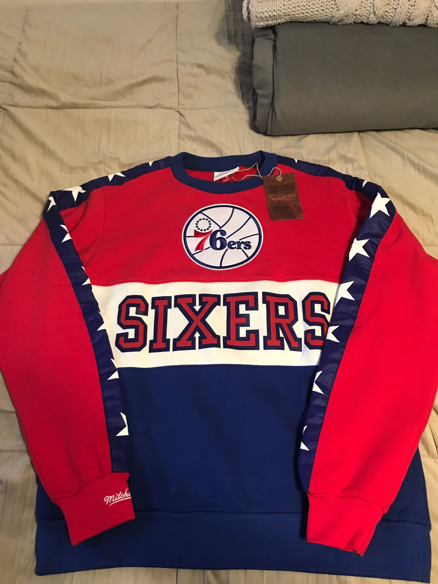 76ers Crew Neck Pull Over 'Sixers' NBA Philadelphia 76ers