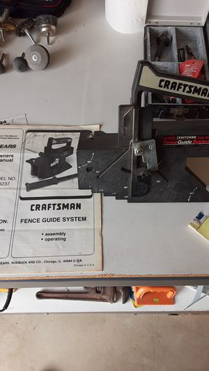Photo Craftsman fence guide system LOOK AT ALL PICTURES