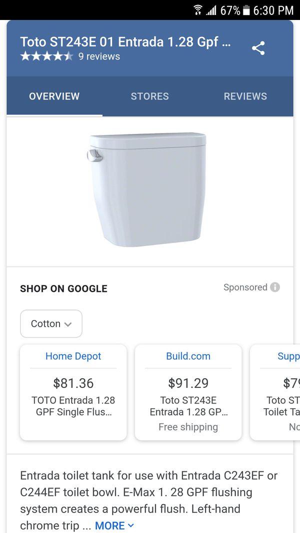 Brand new Toto Estrada toilet tank (Household) in Carrollton, TX ...