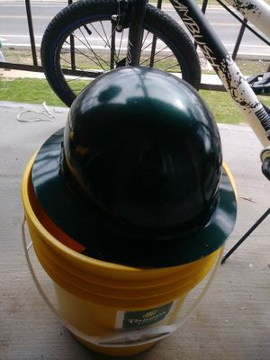 Fiber glass hard hat metalic green for Sale in Silver Spring, MD