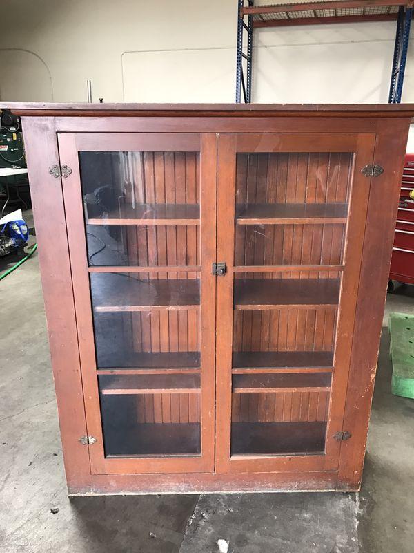 Antique Bookshelf Cabinet For Sale In Anaheim Ca Offerup