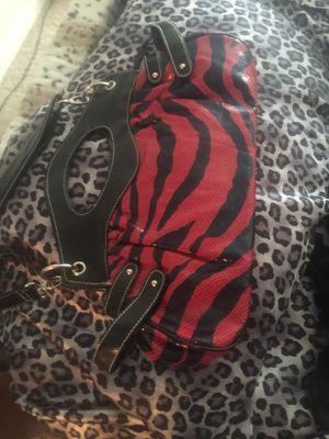 Red And Black Zebra Print Purse For Sale In St Louis Mo Offerup