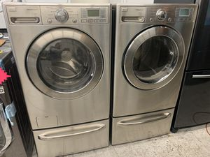 Photo Stainless Steel Lg Front Load Washer And Gas Dryer