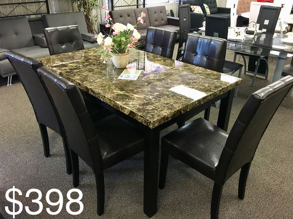 Brand New Solid Marble Dining Table Set Furniture In Fresno Ca Offerup