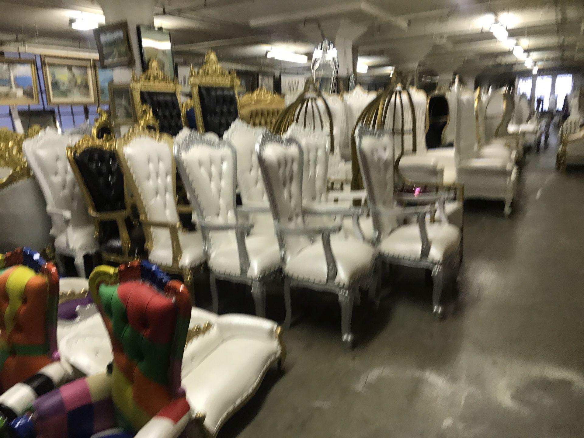 Beautiful throne chair.$1800 each. Best offer