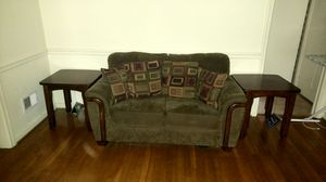Love couch, pillows, and two end tables for Sale in Richmond, VA