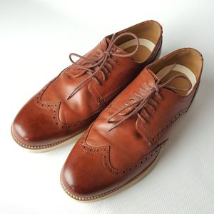 new product df431 2d23b Men s Original Cole Haan Grand-Os Wingtip Oxford Leather Brown Shoes Size  11W for Sale