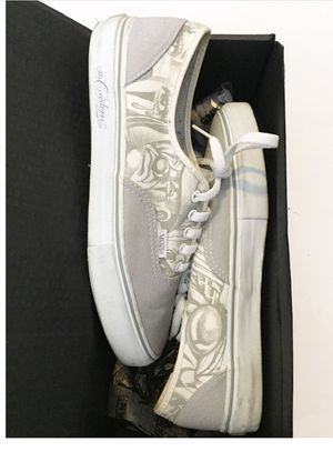 Vans syndicate white mister cartoon rare 10 for Sale in Oxnard, CA