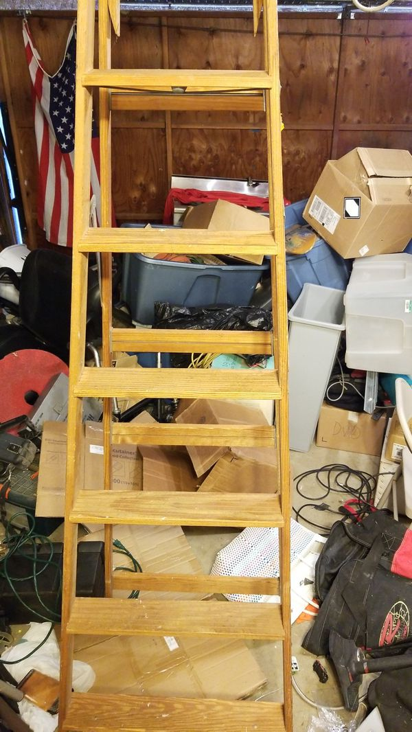 8 Foot Wooden Ladder