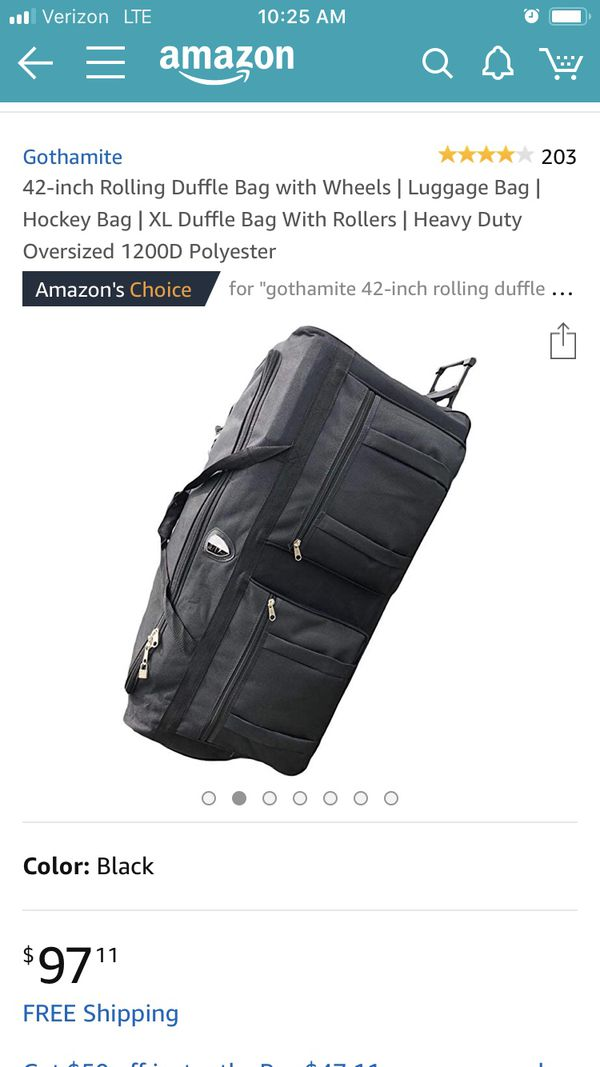 075a4483c809 42-inch Rolling Duffle Bag with Wheels / Luggage Bag / Heavy Duty / XL  Duffle Bag With Rollers for Sale in Nashville, TN - OfferUp