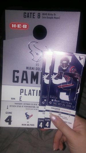 Texans vs dolphins 10/25/18 for Sale in Houston, TX