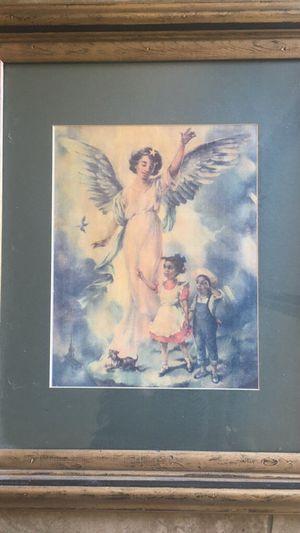 Large Framed Cecil Golding litho of Gaurdian Angel over children for Sale in Laveen Village, AZ