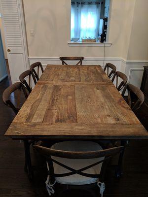 * * 7' Dining Table Restoration Hardware Reclaimed Elm for Sale in Lincolnia, VA