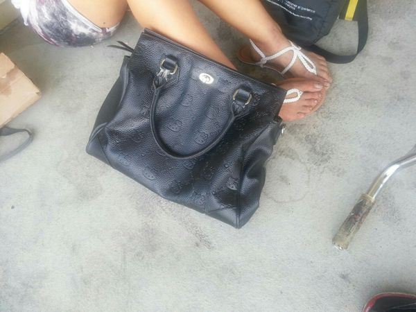5ec30632f Hello Kitty black leather satchel for Sale in Las Vegas, NV - OfferUp