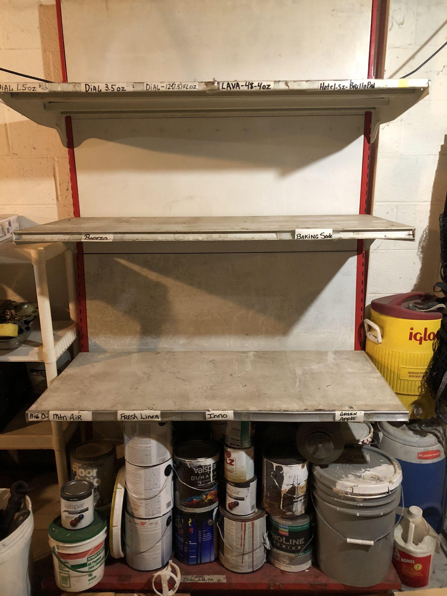 4' metal display shelf.
