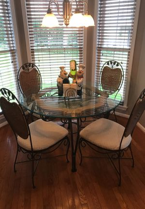 Wrought Iron Glass Table & Chairs for Sale in Sykesville, MD