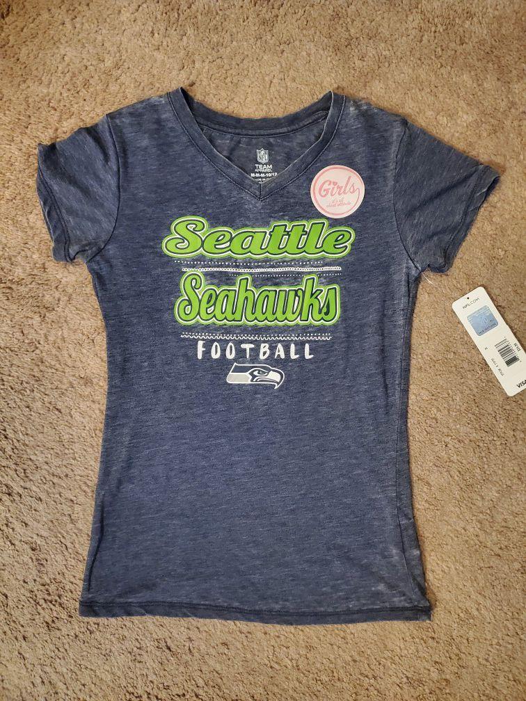 Girls Seahawks V-neck shirt