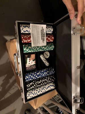 Poker chips with case and cards for Sale in Manassas, VA