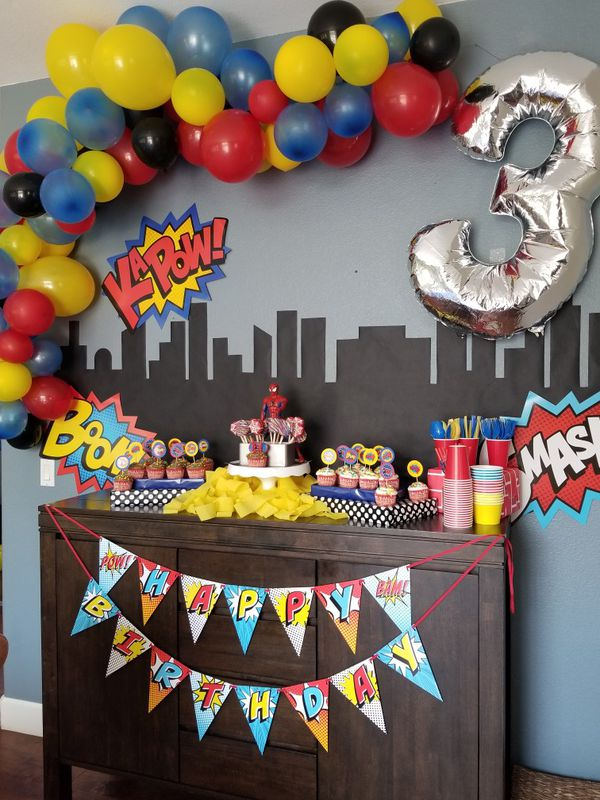 Superhero Spiderman Birthday Decorations Las Vegas