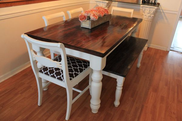 Farmhouse Table Bench And Chairs For Sale In Virginia Beach Va