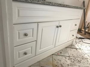 60 inches white sink cabinets for Sale in Bailey's Crossroads, VA