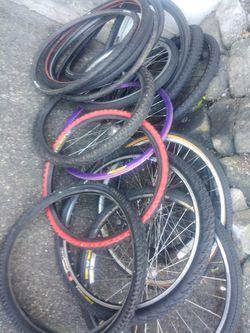 Seat posts, seats, bike racks front rear, handle bars, etc Thumbnail
