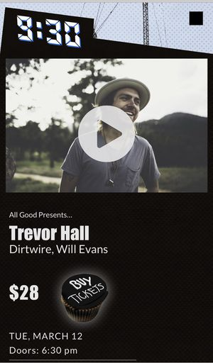 Two (2) tickets to Trevor Hall at 930 Club 3/12 for Sale in Washington, DC
