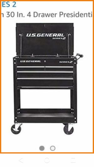 Photo Us General Mechanics Tech Cart 4 Drawer 30in Rolling Tool Box