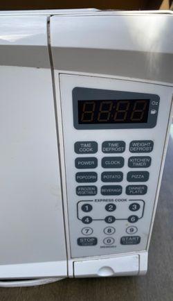 White microwave Thumbnail