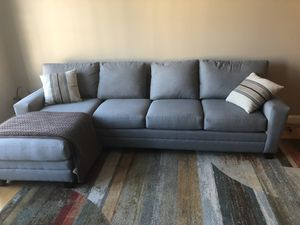 Bassett Custom Couch w/ chaise for Sale in Alexandria, VA
