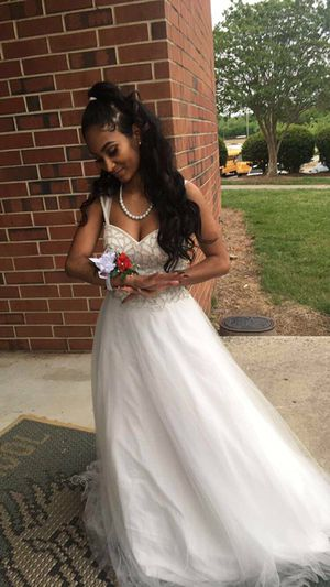 White Silver Prom Formal Dress For Sale In Greensboro Nc Offerup