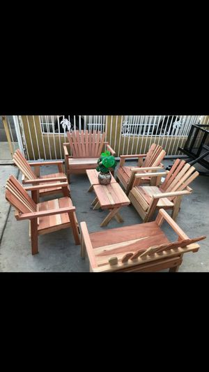 Photo Getting ready for the summer what does 8 piece patio set for the hot weather outdoor wood furniture