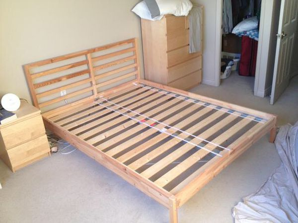 Like New Pine Ikea Tarva Queen Bed Frame For Sale In Temple City Ca Offerup