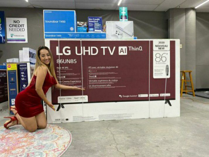 """We do finance 💞 LG 86"""" 4k SMART TV With Gaming Console or 😽🌹Soundbar 😍 NO CREDIT 🌷NEEDED"""