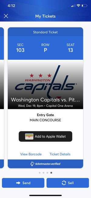 Washington Capitals Vs Pittsburgh Penguins for Sale in Washington, DC