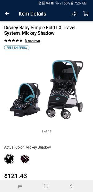 Mickey Mouse Stroller And Car Seat For Sale In Rockford IL