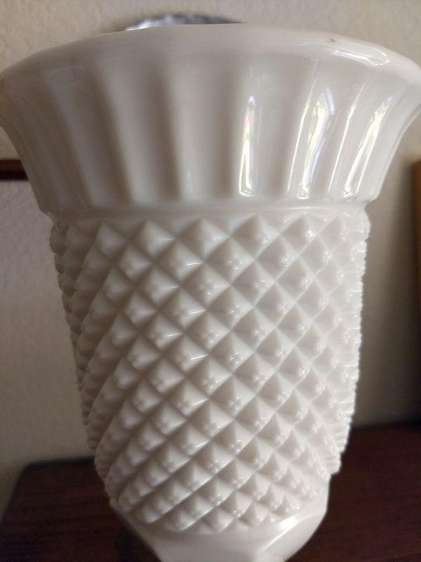 Large Vintage Westmoreland Milk Glass Vase For Sale In Sacramento