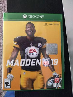 Xbox One Madden 19 for Sale in Bellevue, WA