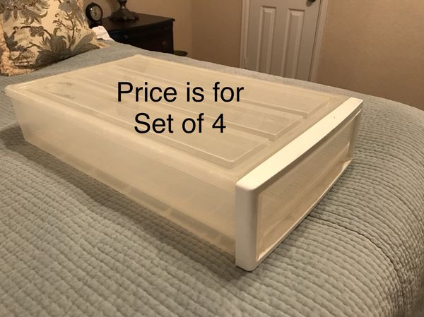 4 Under Bed Storage Containers for Sale in San Antonio TX OfferUp