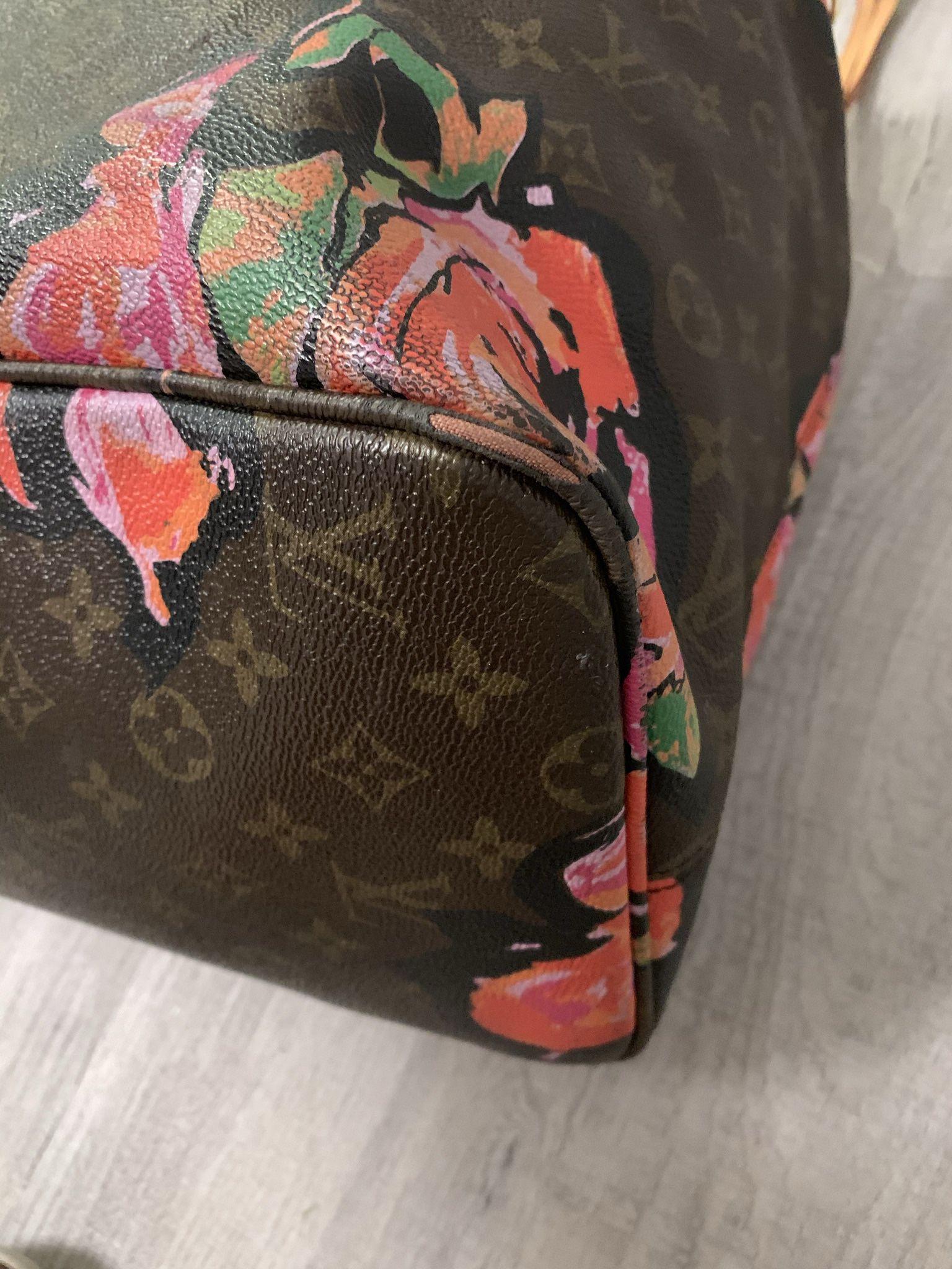 Louis Vuitton  Neverfull  Roses Tote Bag