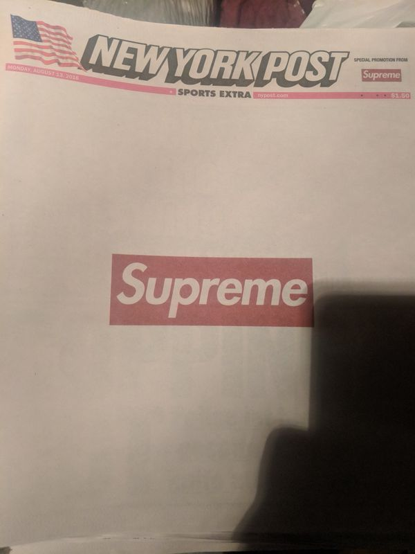 Supreme New York Post for Sale in Phoenix a4106084d